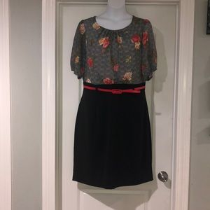 Shelby & Palmer Floral Dress with Belt